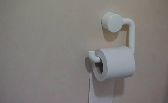 White Toilet Paper Free Photo