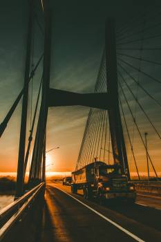 Bridge Rigging Suspension bridge Free Photo