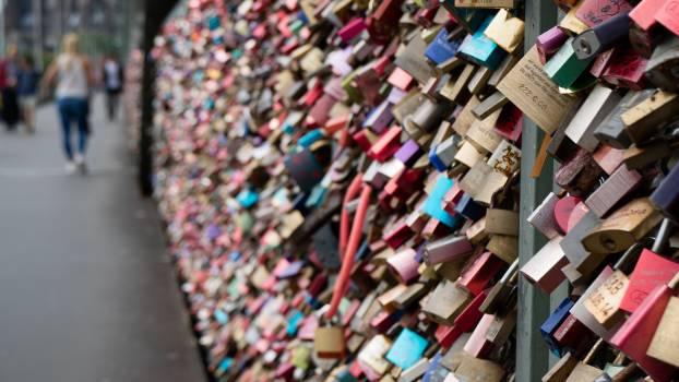 Paris Love Lock Bridge #37146