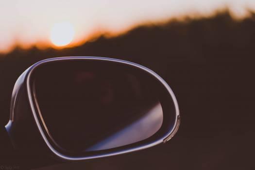 Black Framed Car Side Mirror Free Photo