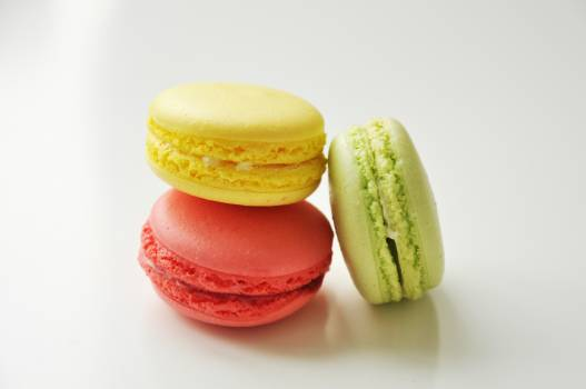 Yellow Pink and Green Macaroons #37303
