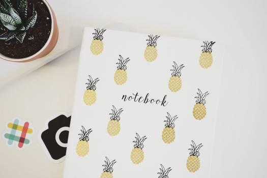 White Pineapple Print Printer Paper Free Photo