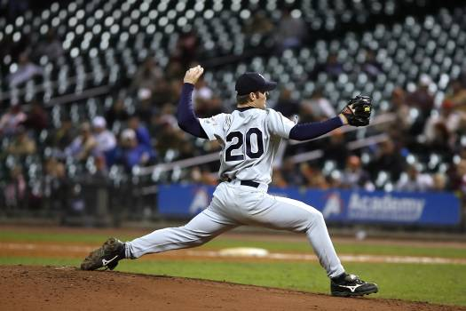 Selective Focus of Baseball Pitcher in 20 Jersey About to Throw Ball Free Photo