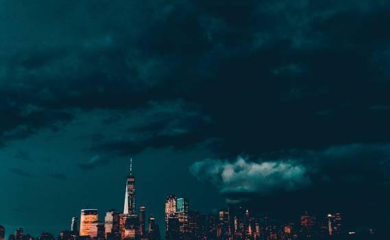 City Skyline Night Free Photo