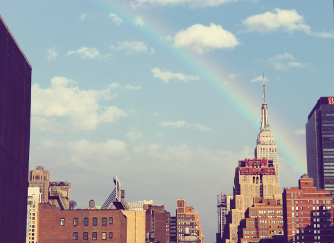 City new york high rise rainbow #37715