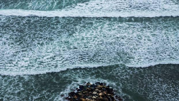 Ocean Breakwater Barrier Free Photo