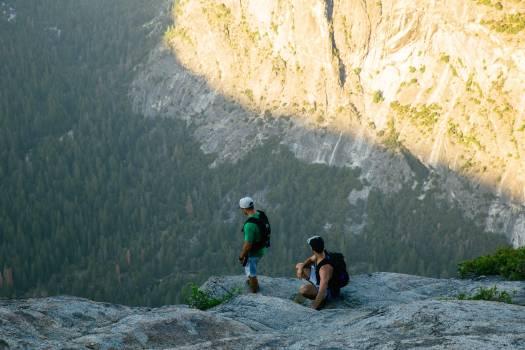 Mountain Hiking Tourist Free Photo