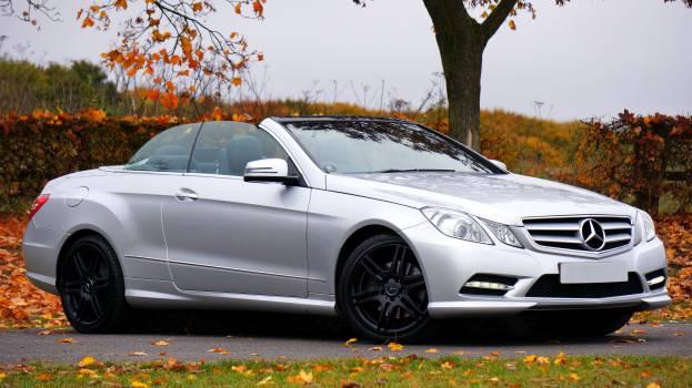 Mercedes Benz Silver Coupe Convertible #37913