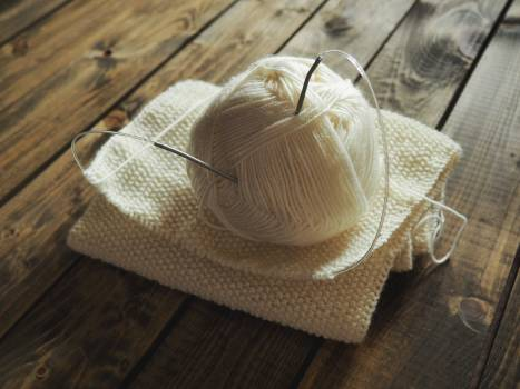 White Crochet on the Table Free Photo