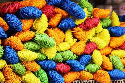 Assorted Color of Yarn during Daytime #38025