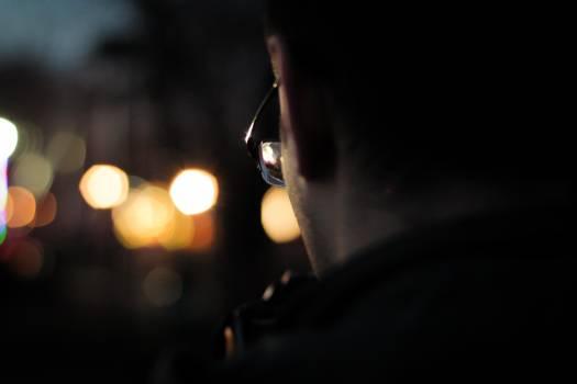 Man Wearing Black Framed Eyeglasses in Macro Photography Free Photo