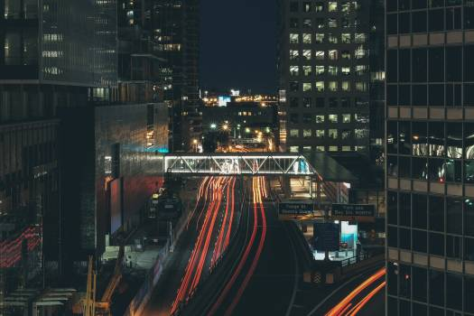 Background City Night Free Photo