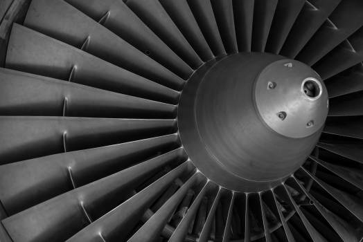 Aviation aircraft engine turbine Free Photo