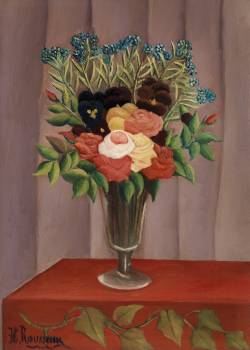 Bouquet of Flowers (Bouquet de fleurs) (ca. 1909 –1910) by Henri Rousseau. Original from Barnes Foundation.  #383785
