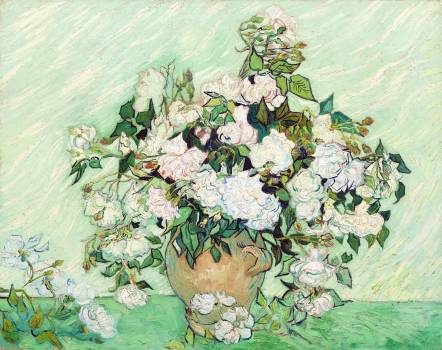Roses (1890) by Vincent Van Gogh. Original from The National Gallery of Art.  Free Photo