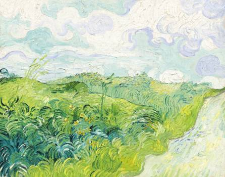 Green Wheat Fields, Auvers (1890) by Vincent Van Gogh. Original from The National Gallery of Art.  Free Photo