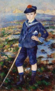 Sailor Boy (Portrait of Robert Nunès) (1883) by Pierre-Auguste Renoir. Original from Barnes Foundation.  #383838