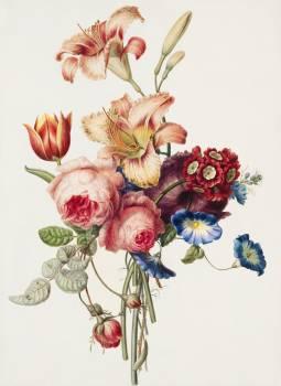 A Bouquet (1820) by Henriëtte Geertruida Knip. Original from The Rijksmuseum.  Free Photo