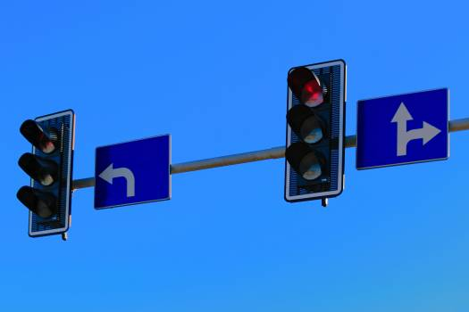 Traffic Lights with Red Light on Free Photo