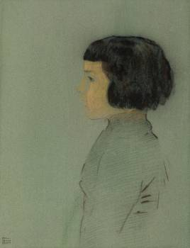 Young Woman in Profile (1910) by Odilon Redon. Original from the National Gallery of Art.  #383965