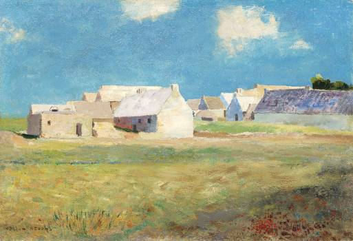 Breton Village (1890) by Odilon Redon. Original from the National Gallery of Art.  Free Photo