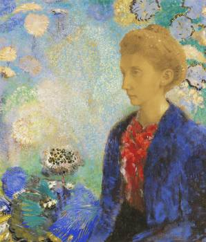 Baronne de Domecy (1900) by Odilon Redon. Original from the J.Paul Getty Museum.  #383969