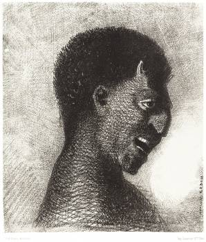 The Satyr with the Cynical Smile (1883) by Odilon Redon. Original from the National Gallery of Art.  #383977