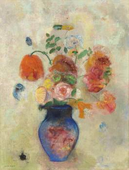 Large Vase with Flowers (1912) by Odilon Redon. Original from the National Gallery of Art.  Free Photo