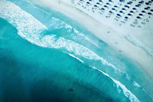 Seashore Aerial Photography during Daytime Free Photo