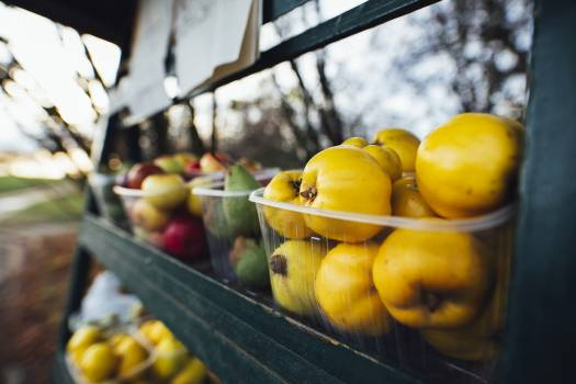 Quince on a fruit stand #384234