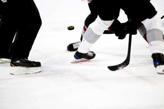 Ice hockey match on the rink #384235