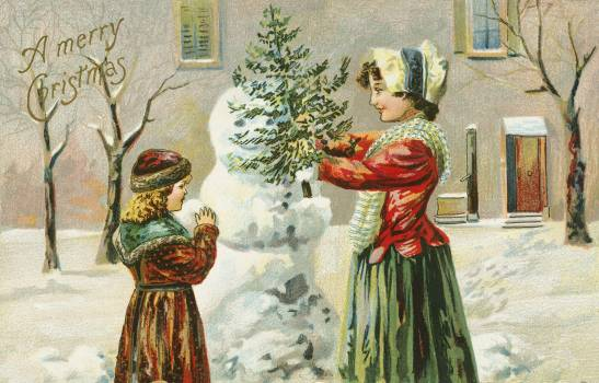 A Merry Christmas (1903) from The Miriam And Ira D. Wallach Division Of Art, Prints and Photographs: Picture Collection by an unknown artist. Original From The New York Public Library.  Free Photo