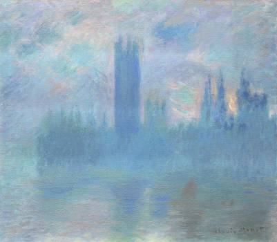 Houses of Parliament, London (1900–1901) by Claude Monet. Original from the Art Institute of Chicago.  #384269