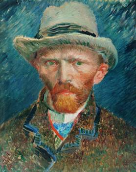 Self-portrait (1887) by Vincent Van Gogh. Original from The Rijksmuseum.  Free Photo