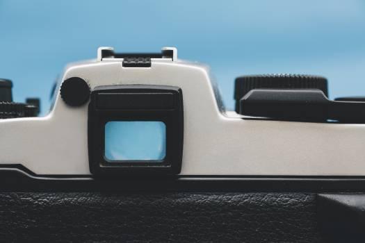 Vintage analog 35mm film camera Free Photo