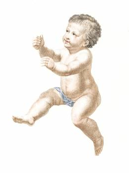 Naked Child by Johan Teyler (1648-1709). Original from The Rijksmuseum.  Free Photo
