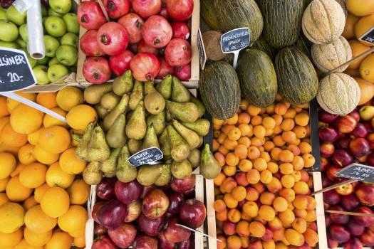 Fresh tropical fruits at a market #384538