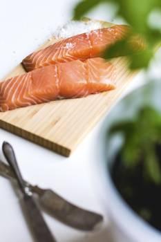 Raw salmon fillets #384546