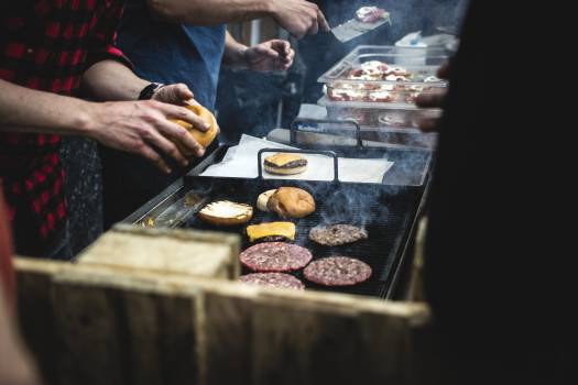 A beef burger bbq grill #384710