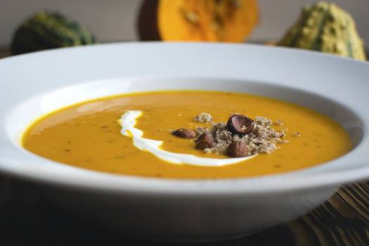 Closeup of pumpkin soup #384734