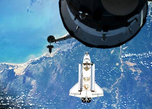 Atlantis on Approach to ISS during the STS-132 Mission, 16 May 2010. Original from NASA.  #385137