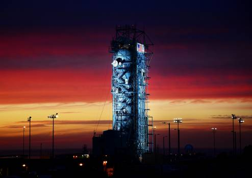 The United Launch Alliance Delta II rocket with the Soil Moisture Active Passive satellite aboard, at the Space Launch Complex 2 at Vandenberg Air Force Base, California. Original from NASA .  Free Photo