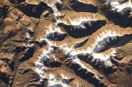 NASA astronaut Scott Kelly, on board the International Space Station, took this interesting picture of the Himalayas on Aug 7, 2015. Original from NASA.  #385312