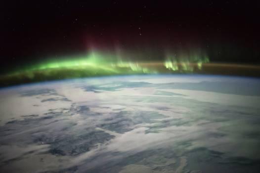 Aurora image over Canada on Jan. 21, 2016. Original from NASA.  #385334