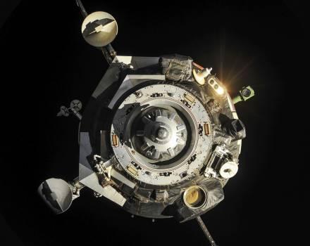 The Soyuz TMA-09M spacecraft departs from the International Space Station's Zvezda Service Module and heads toward a landing near the town of Zhezkazgan, Kazakhstan on Nov 10th, 2013. Original from NASA.  Free Photo