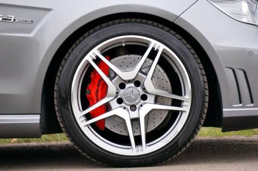 Black Rubber Mercedes Benz Automotive Wheel #38538