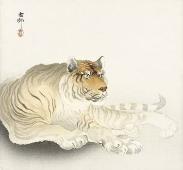 Tiger (1900 - 1930) by Ohara Koson (1877-1945). Original from The Rijksmuseum.  #385563