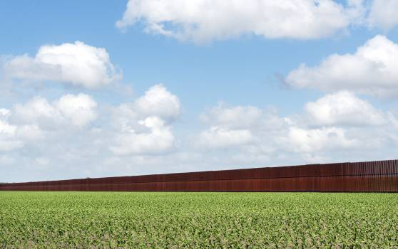 United States-Mexican border-security fence in Brownsville, Texas. Original image from Carol M. Highsmith's America, Library of Congress collection.  #385806