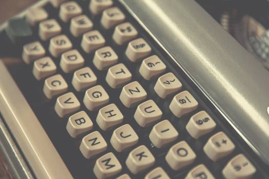 Closeup of vintage typewriter keys #386083