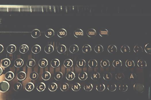 Vintage typewriter keys #386084